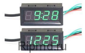 Часы 0,56 (время, термометр, вольтметр)