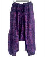 Мужские хлопковые штаны афгани (алладины) с символами ОМ, СПб