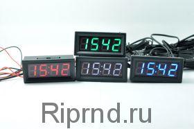 Часы 0,56 (время, дата, 2-термометра, вольтметр)