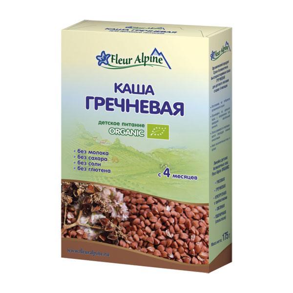 Флёр Альпин - каша Органик гречневая, 4 мес., 175 гр.