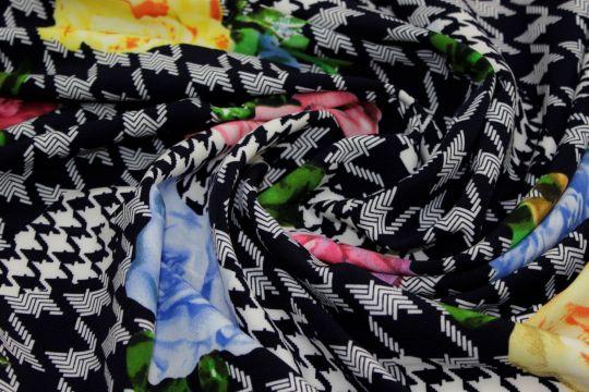 Барби креп принт VT-9201 D#2 C#1