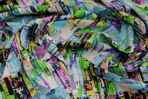 Барби креп принт VT-9129 D#4 C#1