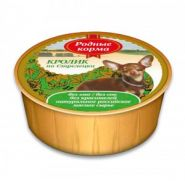 Родные корма Кролик по-стрелецки для собак (лам. 125 г)