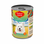 Родные корма Жарёха мясная по-двински для собак (970 г)