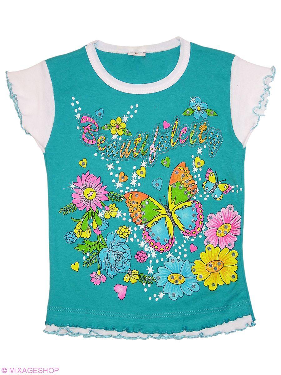 Хлопковая футболка с оригинальным принтом