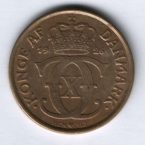 2 кроны 1926 г. XF Дания