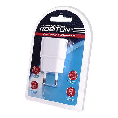 Сетевое зарядное устройство ROBITON  USB  1000 белое