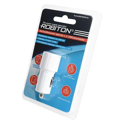 Автомобильное зарядное устройство ROBITON TwinUSB2400 Auto