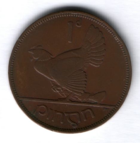 1 пенни 1935 г. Ирландия