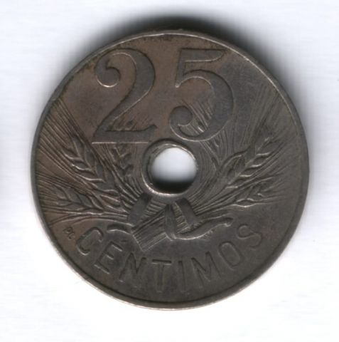 25 сантимов 1927 г. Испания