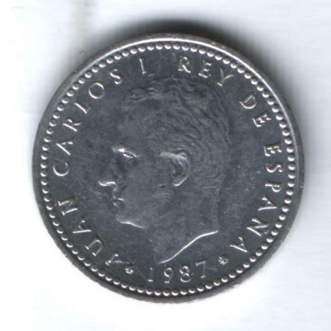 1 песета 1987 г. Испания