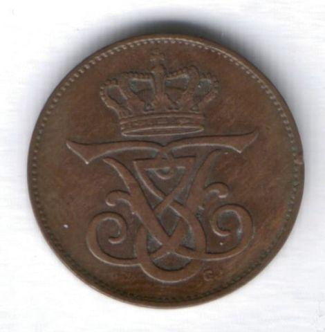 2 эре 1907 г. Дания