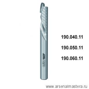 CMT 190.050.11 Фреза спиральная монолитная 5x22x60 Z1/1 S5 RH