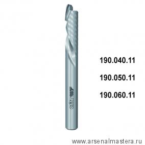 CMT 190.040.11 Фреза спиральная монолитная 4x15x50 Z1/1 S4 RH
