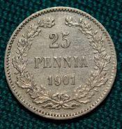 Русская Финляндия 25 пенни 1901 года