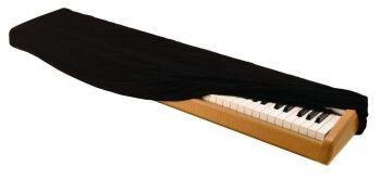 Накидка для пианино бархатная чёрная