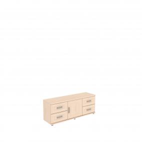 Тумба с ящиками и дверцей   УК-103.02  1350х400х525 мм (ШхГхВ)