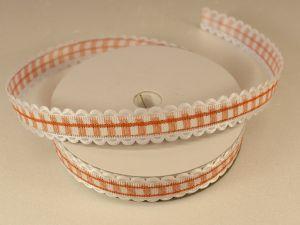 Лента декоративная, ширина 15 мм(213011), цвет: №10 оранжевый (бобина 20+-0,3 ярдов)