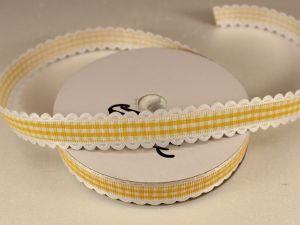 Лента декоративная, ширина 15 мм(213005), цвет: №2 желтый (бобина 20+-0,3 ярдов)