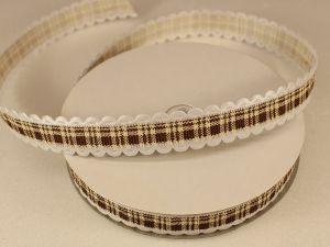 Лента декоративная, ширина 15 мм(213035), цвет: №6 коричневый (бобина 20+-0,3 ярдов)