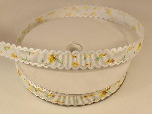 Лента декоративная, ширина 15 мм(213014), цвет: №1 желтый (бобина 20+-0,3 ярдов)