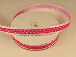 Лента декоративная, ширина 15 мм(213043), цвет: №1 ярко-розовый (бобина 20+-0,3 ярдов)