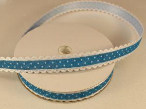 Лента декоративная, ширина 15 мм(213043), цвет: №3 морская волна (бобина 20+-0,3 ярдов)