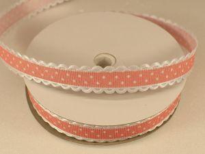 Лента декоративная, ширина 15 мм(213043), цвет: №4 персиковый (бобина 20+-0,3 ярдов)