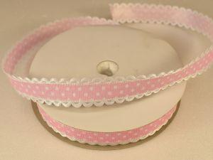 Лента декоративная, ширина 15 мм(213043), цвет: №5 светло-розовый (бобина 20+-0,3 ярдов)