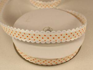 Лента декоративная, ширина 15 мм(213043), цвет: №10 оранжевый (бобина 20+-0,3 ярдов)