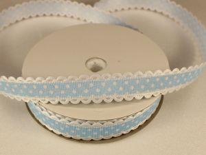 Лента декоративная, ширина 15 мм(213043), цвет: №12 голубой (бобина 20+-0,3 ярдов)