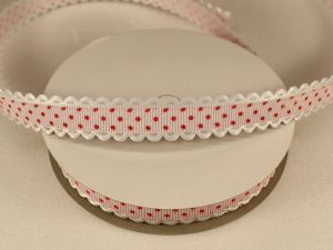Лента декоративная, ширина 15 мм(213043), цвет: №13 светло-розовый - красный (бобина 20+-0,3 ярдов)