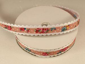 Лента декоративная, ширина 15 мм(213041), цвет: №1 розовый (бобина 20+-0,3 ярдов)