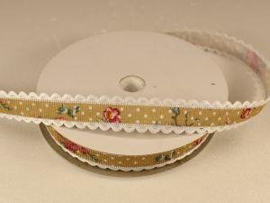 Лента декоративная, ширина 15 мм(213041), цвет: №4 оливковый (бобина 20+-0,3 ярдов)