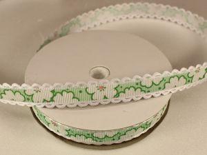 Лента декоративная, ширина 15 мм(213020), цвет: №3 зеленый (бобина 20+-0,3 ярдов)