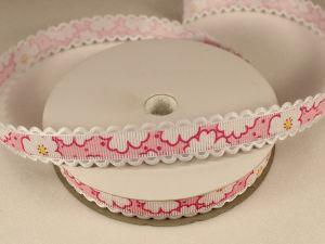Лента декоративная, ширина 15 мм(213020), цвет: №5 светло-розовый (бобина 20+-0,3 ярдов)
