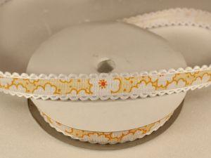 Лента декоративная, ширина 15 мм(213020), цвет: №6 желтый (бобина 20+-0,3 ярдов)