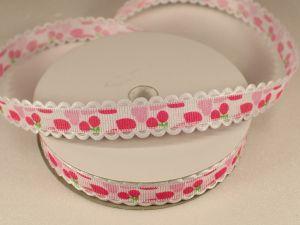 Лента декоративная, ширина 15 мм(213028), цвет: №2 розовый (бобина 20+-0,3 ярдов)