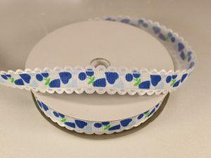 Лента декоративная, ширина 15 мм(213028), цвет: №6 синий (бобина 20+-0,3 ярдов)