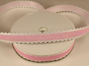 Лента декоративная, ширина 15 мм(213109), цвет: №2 светло-розовый (бобина 20+-0,3 ярдов)