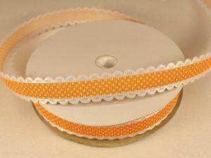 Лента декоративная, ширина 15 мм(213109), цвет: №6 оранжевый (бобина 20+-0,3 ярдов)