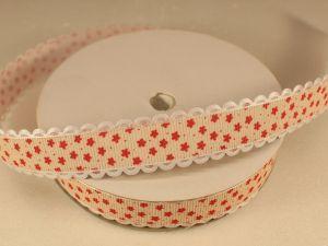 Лента декоративная, ширина 20 мм(213048), цвет: №2 красный (бобина 20+-0,3 ярдов)