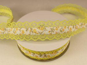 Лента декоративная, ширина 28 мм(313114), цвет: №1 желтый (бобина 20+-0,3 ярдов)