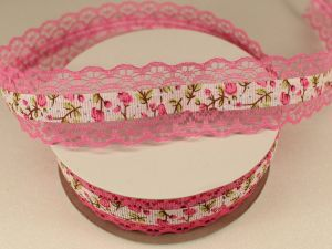 Лента декоративная, ширина 28 мм(313114), цвет: №3 розовый (бобина 20+-0,3 ярдов)