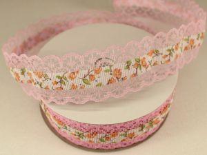 Лента декоративная, ширина 28 мм(313114), цвет: №9 светло-розовый (бобина 20+-0,3 ярдов)