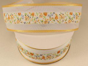 Лента декоративная, ширина 38 мм(413021), цвет: №1 желтый (бобина 20+-0,3 ярдов)