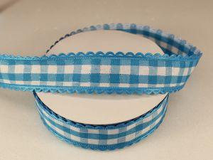 Лента декоративная, ширина 20 мм(313100), цвет: №1 голубой (бобина 20+-0,3 ярдов)