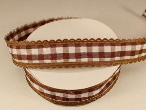 Лента декоративная, ширина 20 мм(313100), цвет: №3 коричневый (бобина 20+-0,3 ярдов)