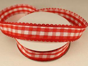 Лента декоративная, ширина 20 мм(313100), цвет: №4 красный (бобина 20+-0,3 ярдов)