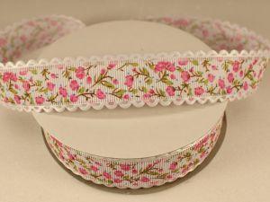 Лента декоративная, ширина 25 мм(313104), цвет: №3 розовый (бобина 20+-0,3 ярдов)